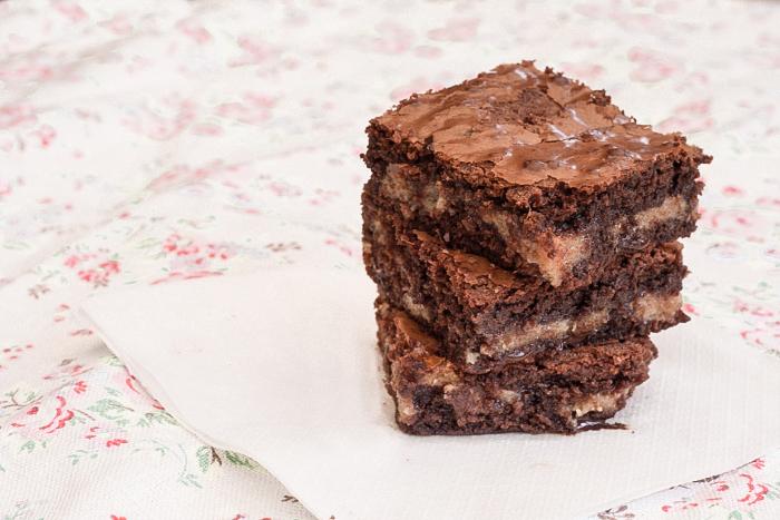 Brownies með hnetusmjörskaramellu